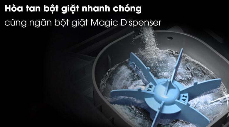 Sở hữu hộp chứa bột giặt Magic Dispenser mạnh mẽ đánh tan bột giặt trước khi đưa vào máy