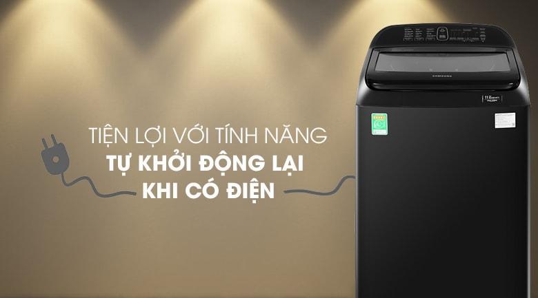Cơ chế tự khởi động lại khi có điện giúp bạn không phải phân tâm khi giặt đồ