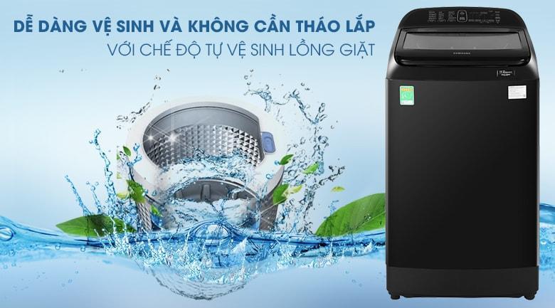 Máy giặt Samsung WA12T5360BV/SV có chức năng vệ sinh lồng giặt rất tiện lợi