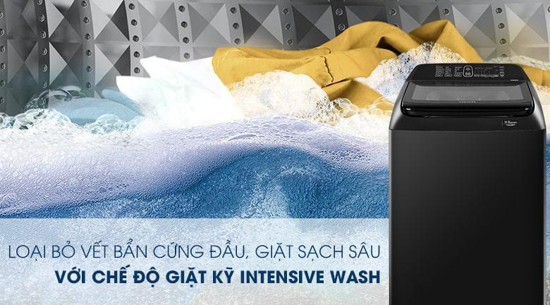 Chế độ giặt kỹ Intensive Wash thách thức mọi loại vết bẩn