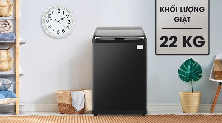 Máy giặt Samsung WA22R8870GV/SV có khối lượng giặt khủng 22 kg - hiện đại, đẹp mắt