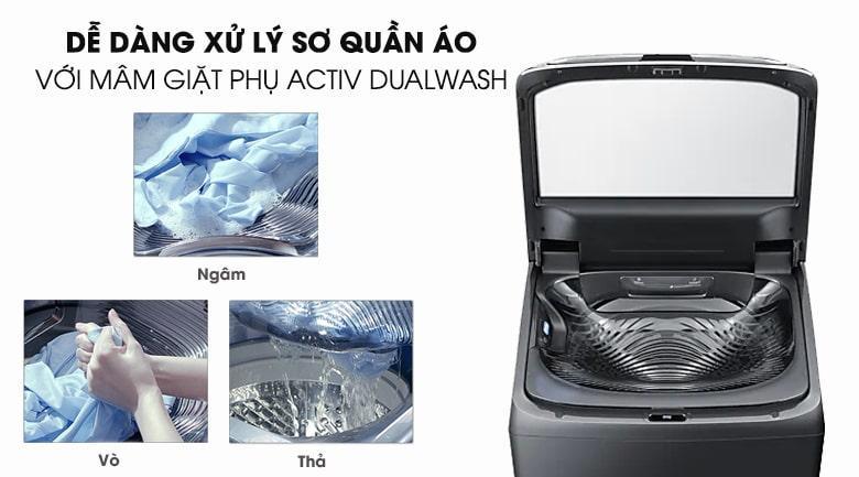 Khay giặt tay tích hợp Activ Dualwash giúp bạn giặt tự động hoàn toàn