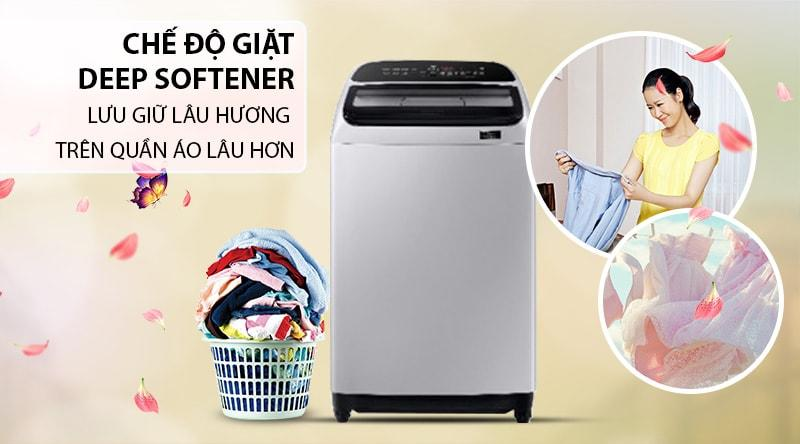 Máy giặt Samsung WA85T5160BY/SV cho quần áo nhà bạn thơm lâu hơn