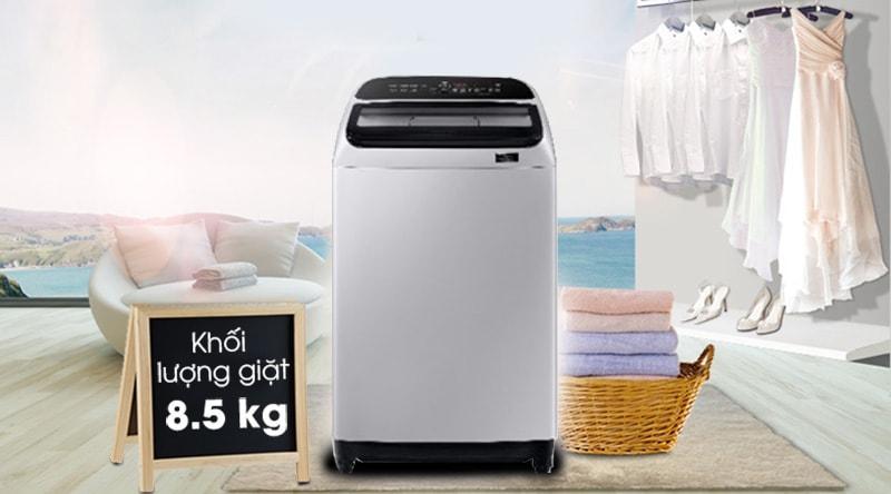 Trang bị khối lượng giặt 8.5kg nên có thể phù hợp với rất nhiều hộ gia đình
