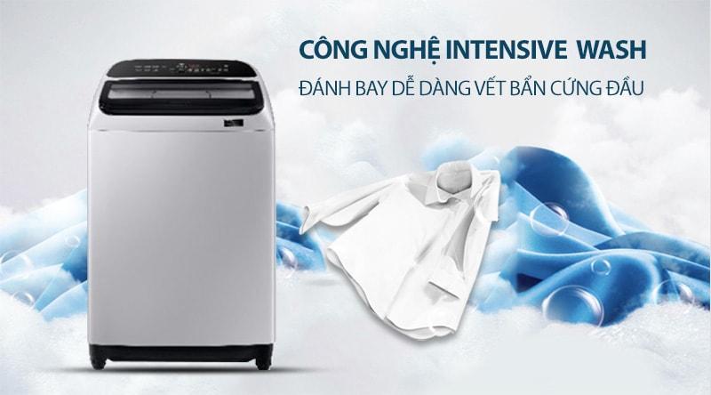 Công nghệ Intensive Wash loại bỏ những vết bẩn cứng đầu nhất