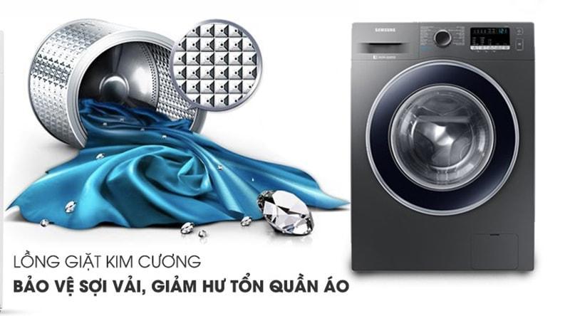 Lồng giặt kim cương giảm hư tổn quần áo và giúp giặt sạch hơn
