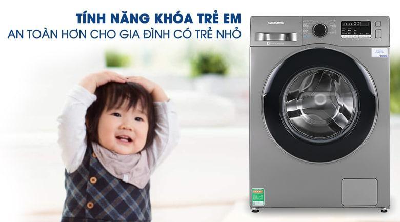 Máy giặt Samsung WW95J42G0BX/SV tuyệt đối an toàn với trẻ em