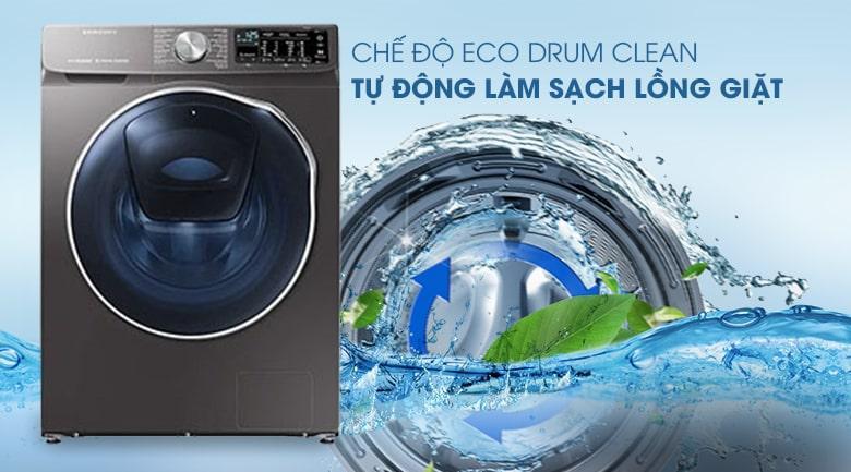 Máy giặt sấy Samsung WD10N64FR2X/SV có chức năng tự vệ sinh lồng giặt tiện lợi