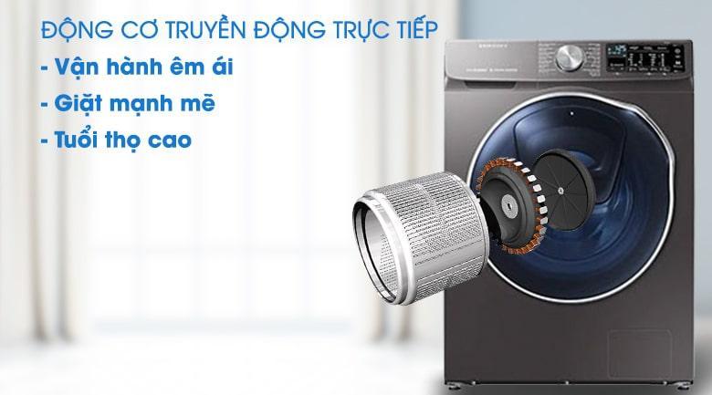 Máy giặt sấy Samsung AddWash WD10N64FR2X/SV với động cơ truyền động trực tiếp