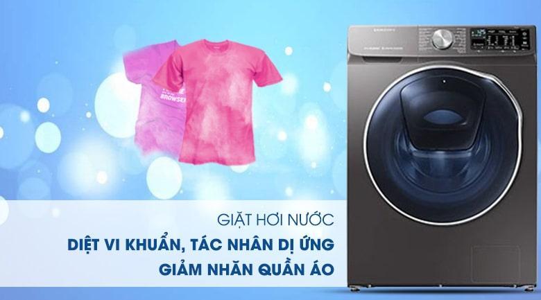 Có chức năng giặt hơi nước giúp giảm nhăn và diệt khuẩn hiệu quả