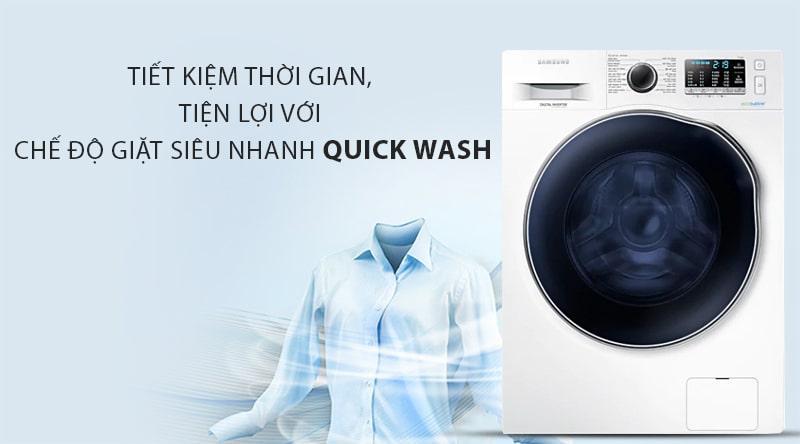 Chế độ giặt siêu nhanh Quick Wash giúp bạn tiết kiệm thời gian tối đa