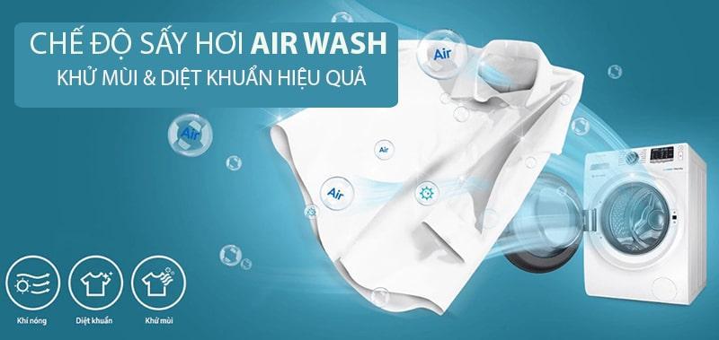 Sở hữu chế độ sấy hơi Air Wash có thể loại bỏ vi khuẩn và khử mùi rất tốt