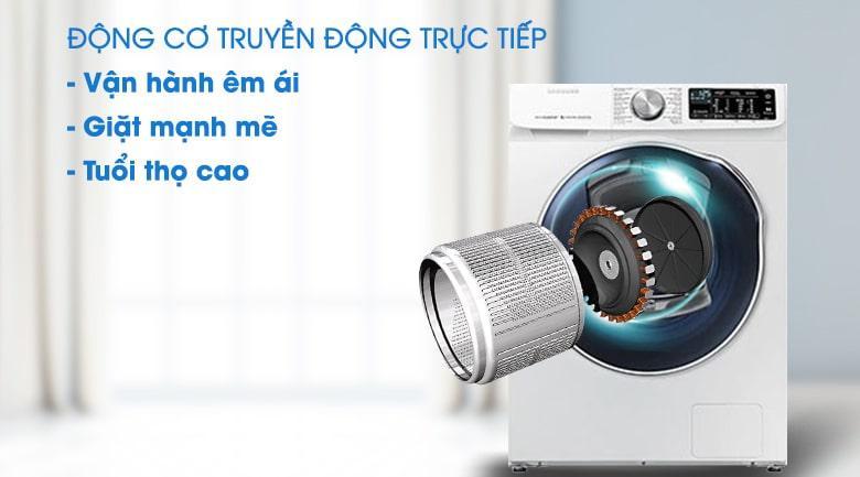 Máy giặt sấy Samsung AddWash WD10N64FR2W/SV với động cơ truyền động trực tiếp