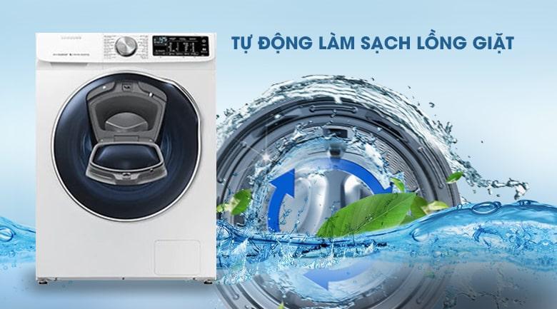 Máy giặt sấy Samsung WD10N64FR2W/SV có chức năng tự vệ sinh lồng giặt tiện lợi