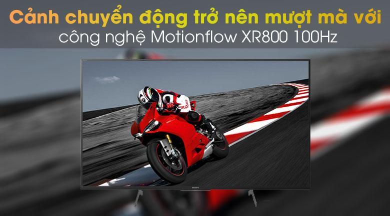 cảnh chuyển động mượt mà với công gnheej Motionflow XR800 100Hz