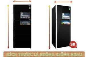 Kích thước tủ lạnh hitachi 2 cánh