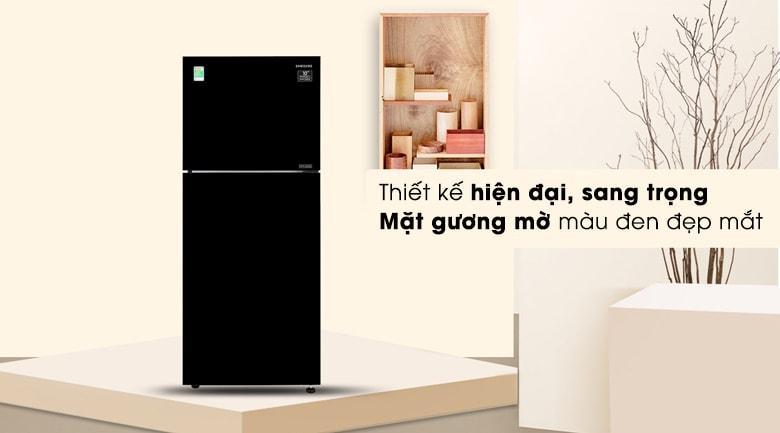 Tủ lạnh Samsung RT35K50822C/SV có màu đen sang trọng và kiểu dáng hiện đại