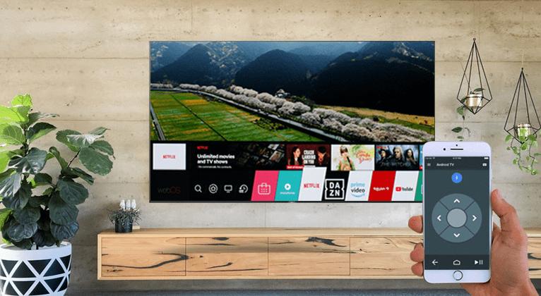 Điều khiển tivi OLED bằng điện thoại với ứng dụng Android TV Remote Control