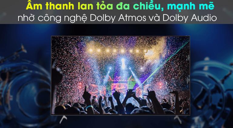 Trải nghiệm âm thanh giả lập vòm sống động, chân thực hơn nhờ công nghệ âm thanh Dolby Audio và Dolby Atmos