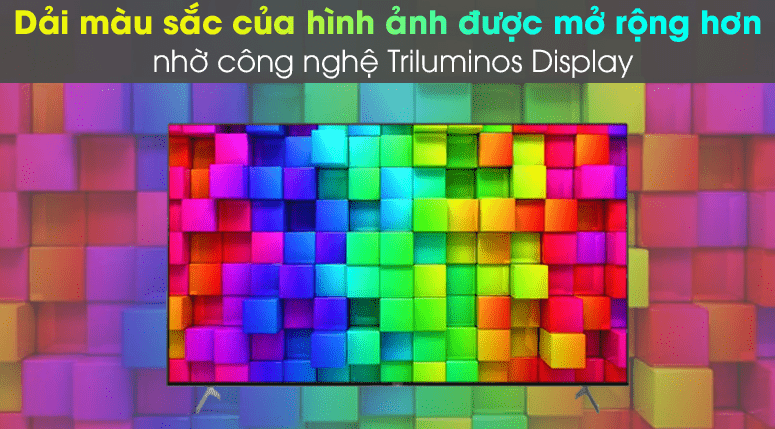 Hình ảnh sống động như thật và có màu sắc rực rỡ hơn nhờ màn hình chấm lượng tử TRILUMINOS