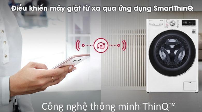 điều khiển máy giặt từ xa qua ứng dụng SmartThinQ