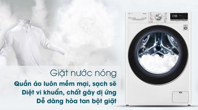 giặt nước nóng giúp quần áo luôn mềm mại, sạch sẽ, diệt vi khuẩn, chất gây dị ứng dễ dàng hòa tan bột giặt