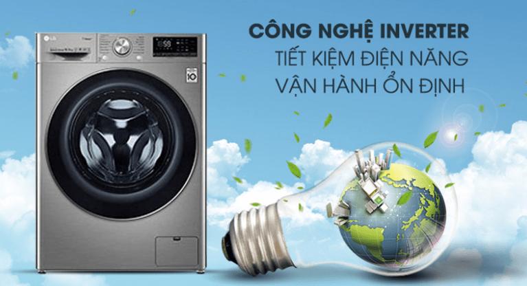 Máy giặt LG inverter FV1450S3V tiết kiệm điện hiệu quả