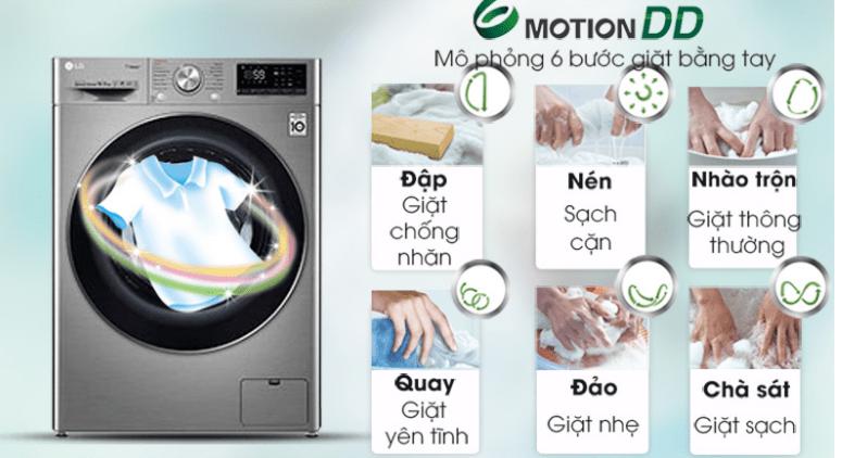 Giảm hư tổn sợi vải, bảo vệ quần áo tối ưu cùng công nghệ 6 Motion DD