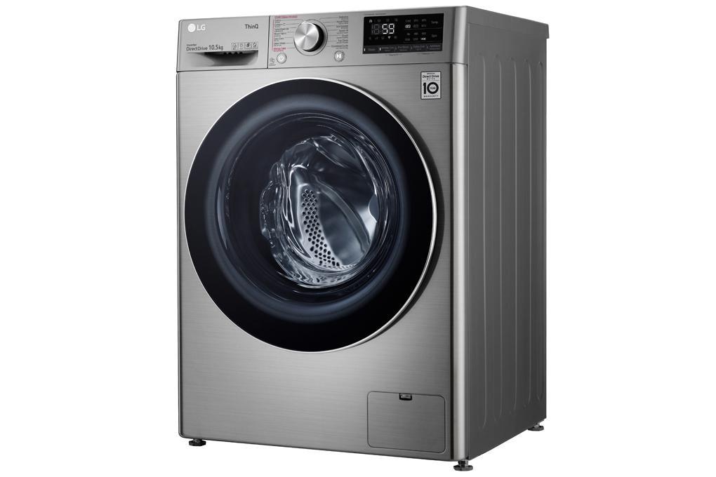 Máy giặt LG FV1450S3V vận hành êm ái, tối ưu hóa chương trình giặt nhờ động cơ truyền động trực tiếp kết hợp AI