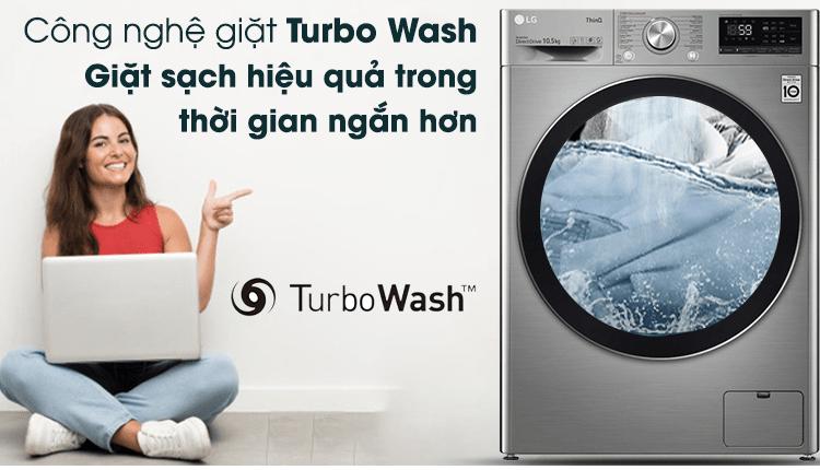 Tiết kiệm thời gian giặt giũ, giặt sạch và nhanh hơn với công nghệ Turbo Wash