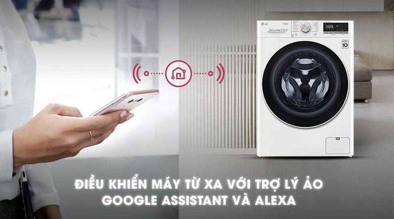 điều khiển máy giặt từ xa với trợ lý ảo Google Assitant và Alexa
