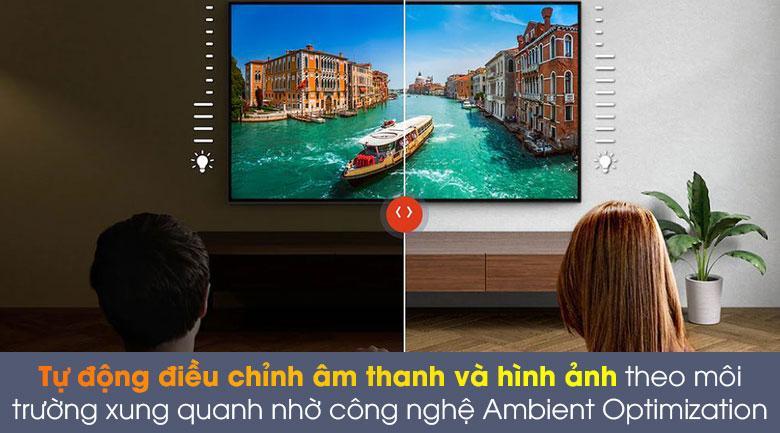 55A8H tự động điều chỉnh âm thanh và hình ảnh theo môi trường xung quanh nhờ công nghệ ambient Optomization