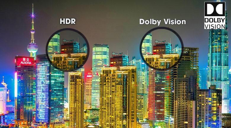 dải tương phản đôngj cho hình ảnh sắc nét Dolby vision