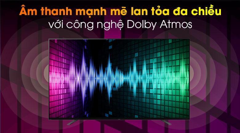55A8H âm thanh mạnh mẽ lan tỏa đa chiều với công nghệ Dolby Atmos