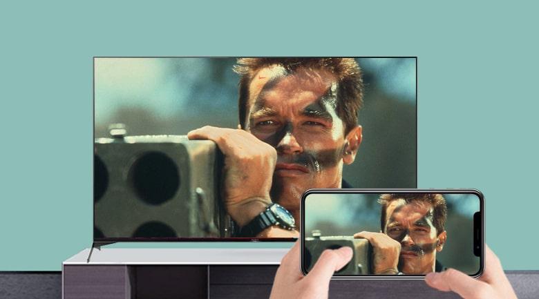trình chiếu màn hình điện thoại nên tivi