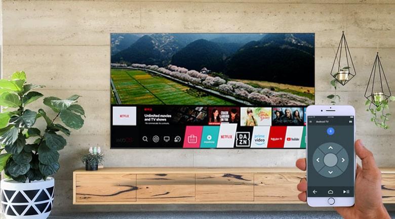 điều khiển tivi bằng điện thoại qua ứng dụng android TV