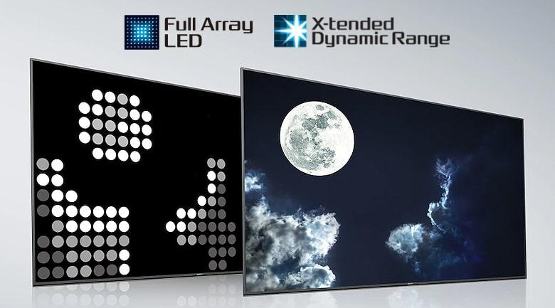 nâng cấp độ tương phản với tấm nền Full Array LED và công nghệ X-tended Dynamic Range