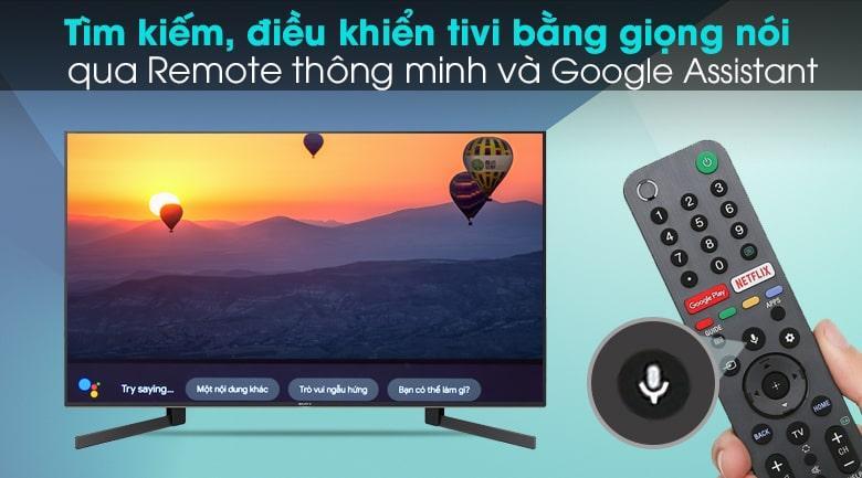 tìm kiếm, điều khiển tivi bằng giọng nói qua Remote thông minh và google Assistant