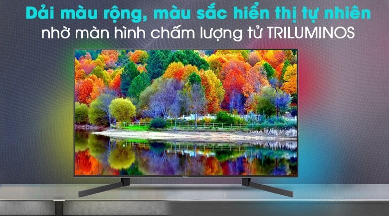 dải màu rộng, màu sắc hiện thị tự nhiên nhờ màn hình chấm lượng tử Triluminos