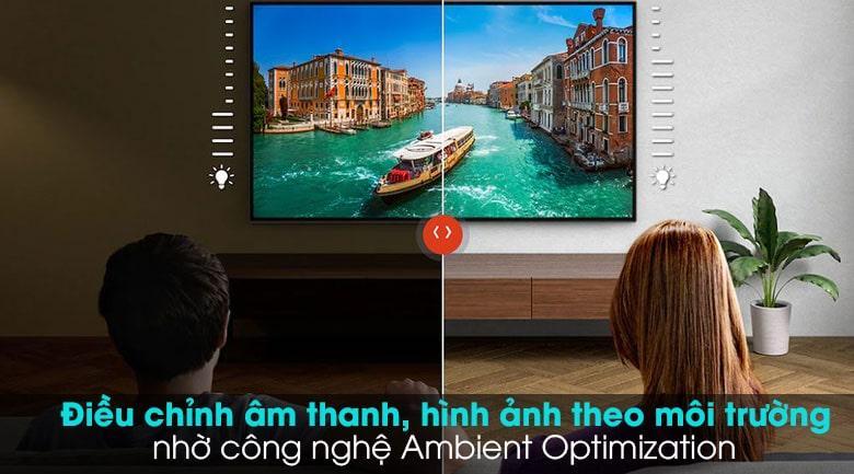 điều chỉnh âm thanh, hình ảnh theo môi trường nhờ công nghệ Amblent Optimlzation