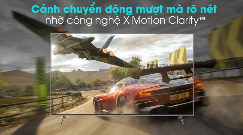 65X9000H cảnh chuyển động mượt mà rõ nét nhờ công nghệ X-Motion Clarity