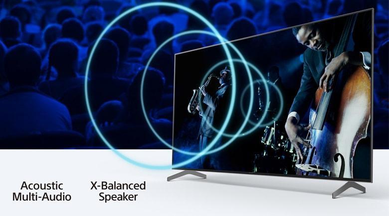 65X9000H cho âm thanh như ở rạp với công nghệ Acoustic Multi-Audio