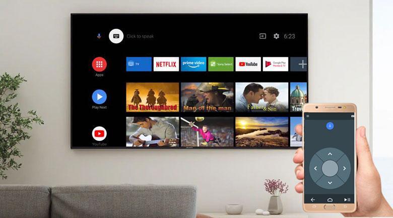 điều khiển tivi bằng điện thoại với ứng dụng Android TV