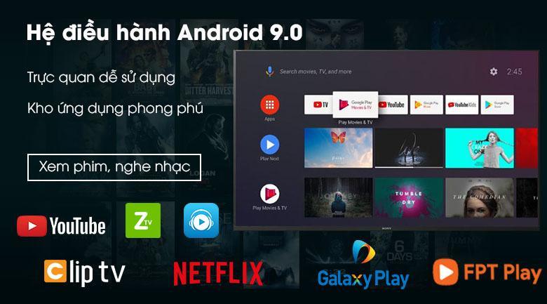 trang bị hệ điều hành Android 9.0