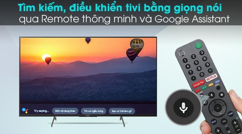 tím kiếm bằng giọng nói hỗ trợ tiếng việt qua Remote thông minh và Google Assistant