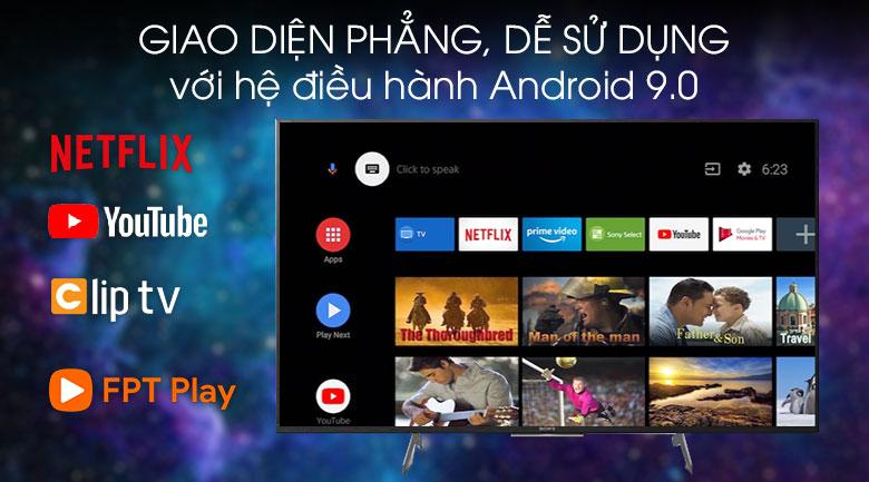 giao diện phẳng, dễ sử dụng với hệ điều hành Android 9.0