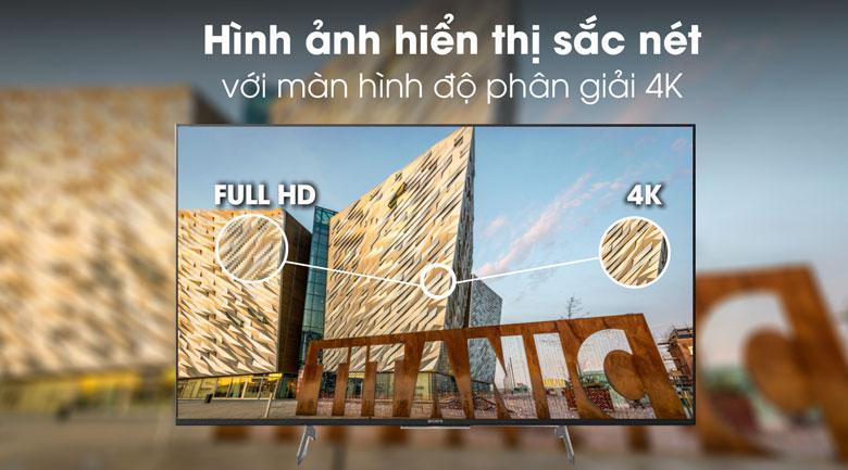 49X8500H/S có độ phân giải 4K cho hình ảnh hiển thị sắc nét