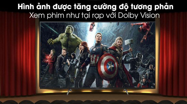 hình ảnh được tăng cường độ tương phản như xem phim tại rạp với Dolby Vision