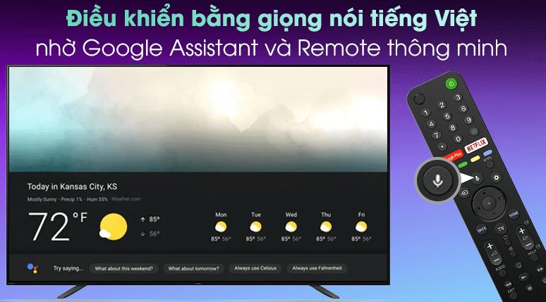 Điều khiển tivi bằng giọng nói tiếng Việt nhờ trợ lý ảo Google Assistantvà remote thông minh thiết kế mới