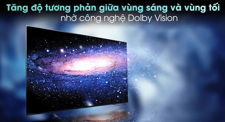 Trải nghiệm xem những bộ phim điện ảnh như tại rạp ngay trong không gian của bạn với bộ đôi công nghệ Dolby Vision và Dolby Atmos